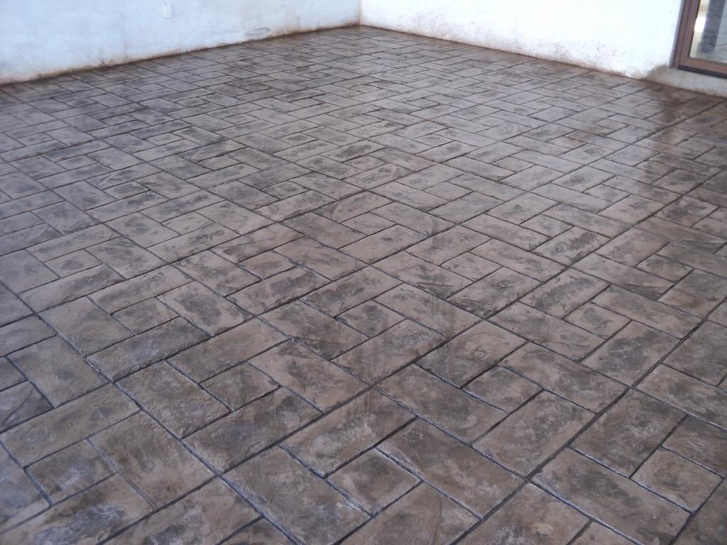 Concreto estampado en queretaro for Cemento estampado precio